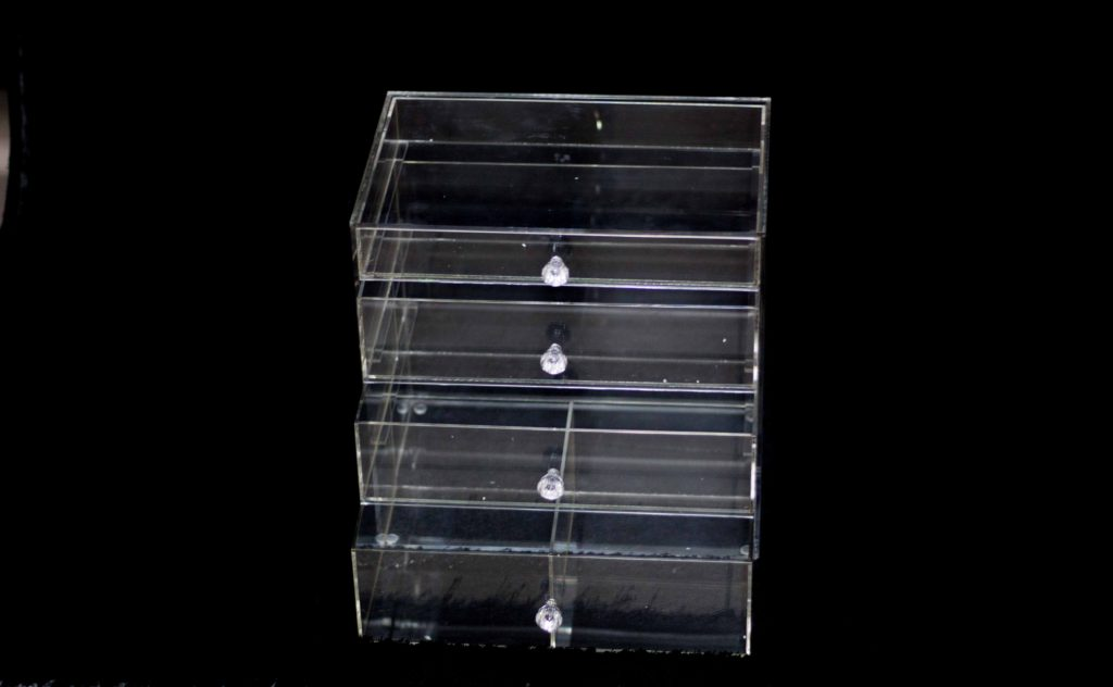 acrylic make up organiser