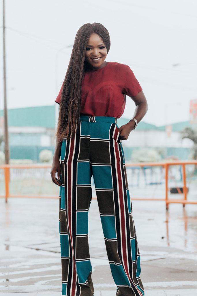 Styling wide leg pants