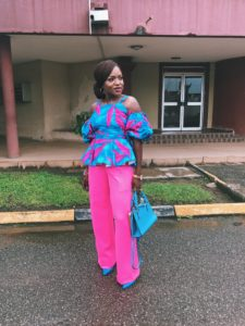 styling african print top and trouser