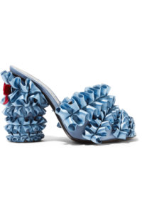 MarcoDeVincenzo Ruffled mule